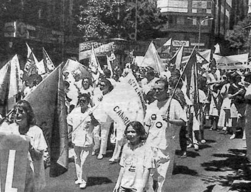 1 de agosto de 1998: Marcha blanca en contra de las oposiciones del SCS