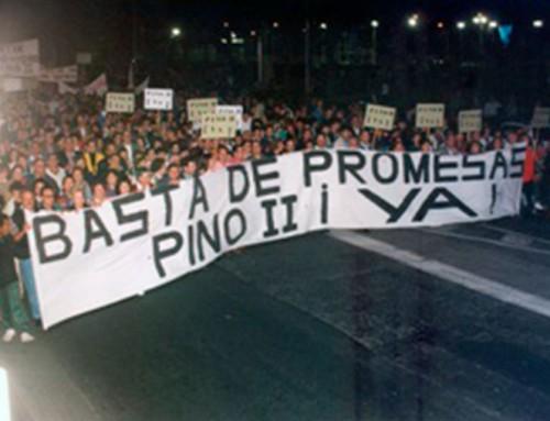 18 de noviembre de 1993: Manifestación para reclamar un nuevo Hospital en Gran Canaria