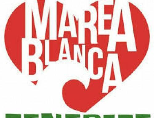 """Acción en Garachico del colectivo """"Vecinos y Vecinas por una Sanidad Pública Digna"""""""