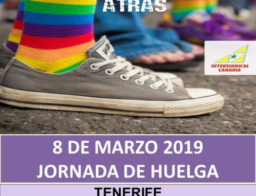 ¡En Igualdad, ni un paso atrás! 8 de marzo- Jornada de Huelga